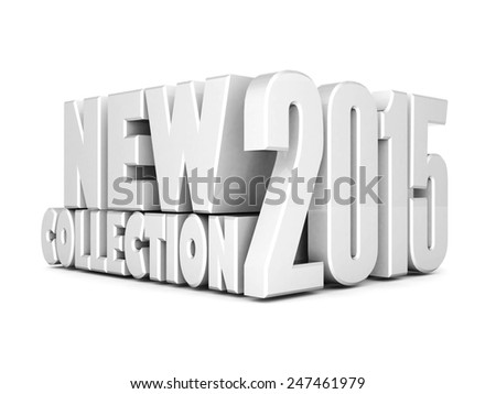 beautiful 3d text new collection - stock photo