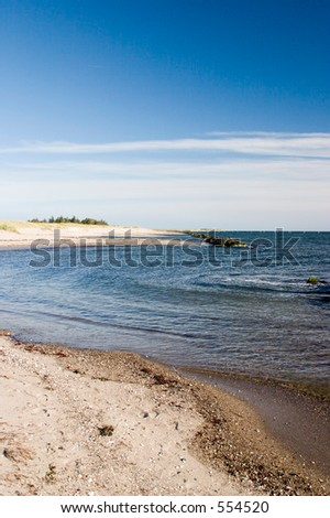 Beautiful danish beach near Roedby