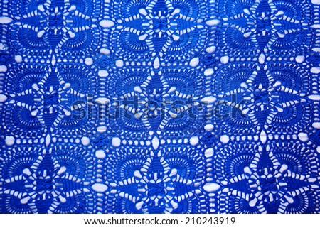 Beautiful dark blue background textile - stock photo