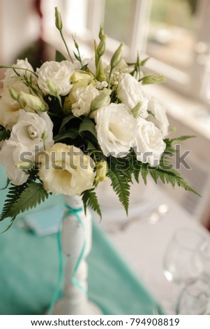 Beautiful decoration for wedding ceremony eve