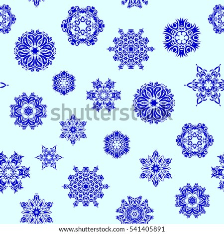 Beautiful decoration. Isolated watercolor snowflakes on neutral background. Symbol of winter. Hand-drawn illustration of isolated stylized snowflakes.