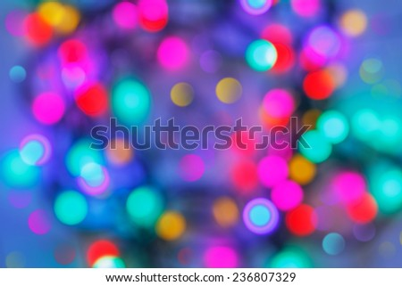 Beautiful Defocused abstract bokeh for use at graphic design, Beautiful Background of holiday lights - stock photo