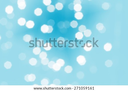 Beautiful defocused LED lights filtered bokeh abstract with blue tone background. - stock photo