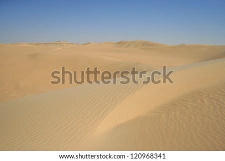 Beautiful Desert Landscape of Egypt - stock photo