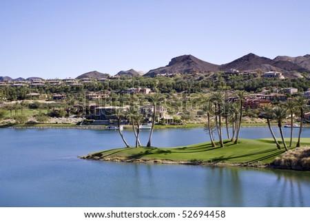 Beautiful desert oasis in Las Vegas - stock photo