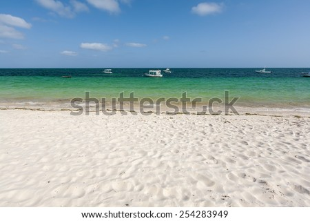 Beautiful  desert  on the Beach , Kenya - stock photo