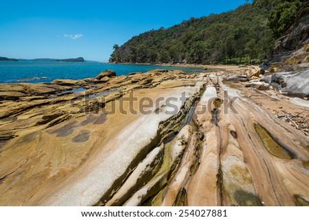 Beautiful deserted Australian beach. - stock photo