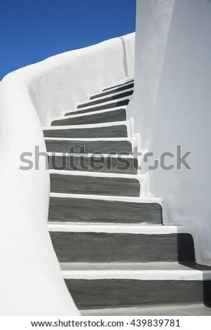 beautiful details of Santorini island, Greece - stock photo