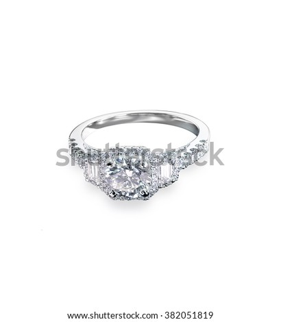 Beautiful diamond wedding ring set with multiple diamonds within a gold or platinum setting