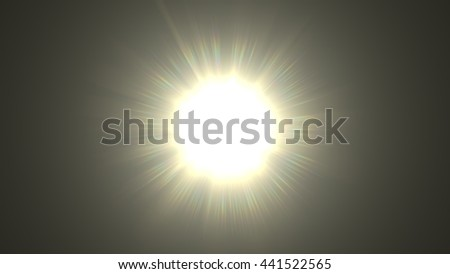 Beautiful digital lens flare in black background