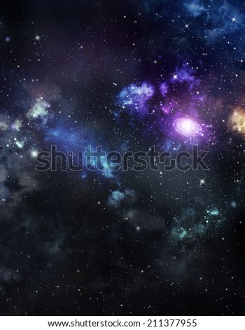 beautiful distant galaxy - stock photo