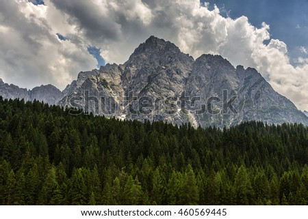 Beautiful Dolomite Mountains in North of Italy or South Tirol