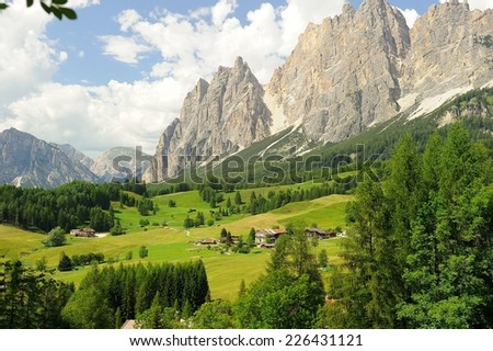 Beautiful Dolomite mountains near Cortina D'Ampezzo, Pomagagnon group, Sudtirol, Italy