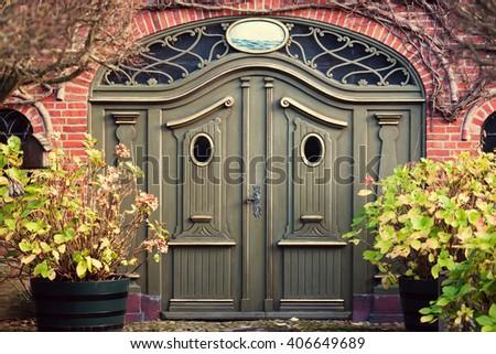 beautiful door - stock photo