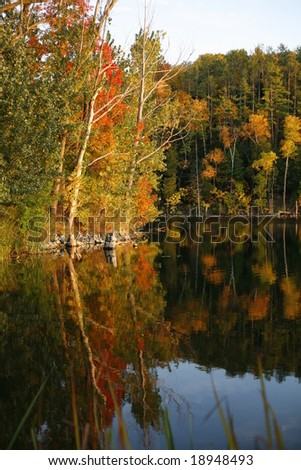 Beautiful Door County Wisconsin in fall - stock photo