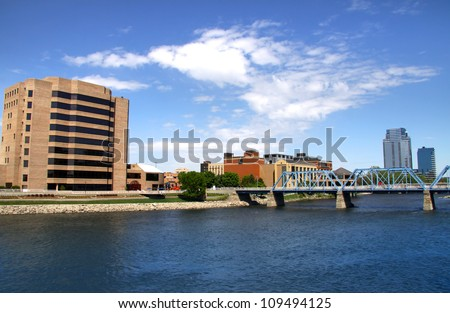 Beautiful Downtown Grand Rapids in Michigan - stock photo