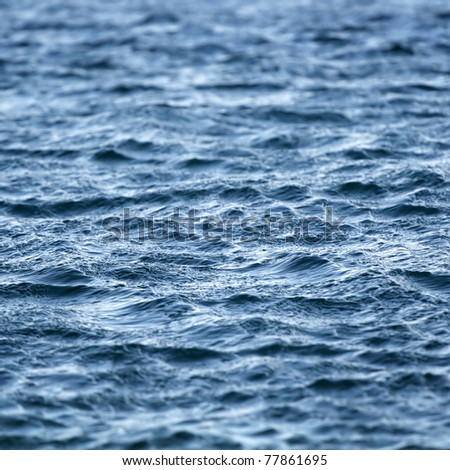 Beautiful dramatic sea water background - stock photo