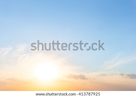 beautiful dramatic sunset bsckground - stock photo