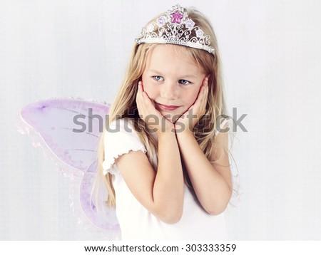 Beautiful dreamy fairy - stock photo