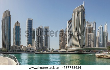 Beautiful dubai in uae amazing old markets and stunning new buildings