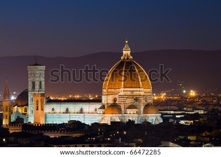 Beautiful duomo in Florence at twilight, Italy.