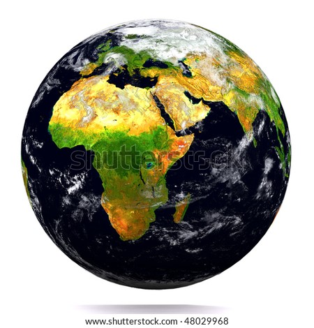 Beautiful earth- Africa - stock photo