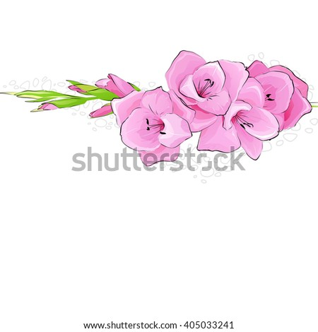 beautiful easy flower background. Raster copy of vector file.