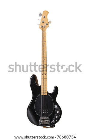 Beautiful electric guitar isolated on white background - stock photo