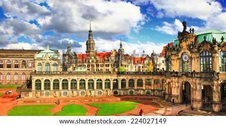 beautiful elegant Dresden, Zwinger museum - stock photo