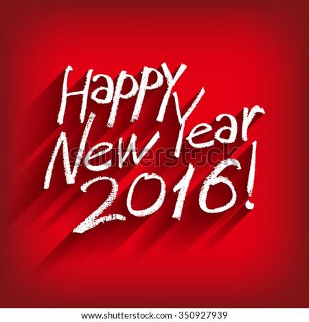 Beautiful elegant text design of happy new year. Raster version - stock photo