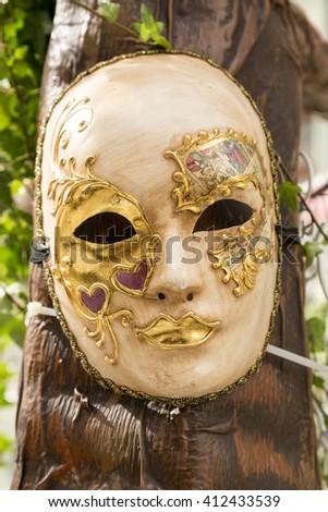 Beautiful elegant venetian mask - stock photo