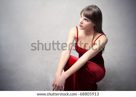 Beautiful elegant woman - stock photo