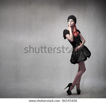 Beautiful elegant woman - stock photo