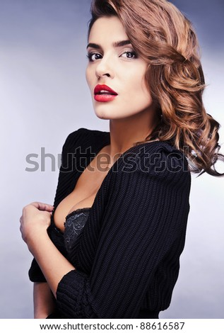 Beautiful elegant woman. Luxury photo. - stock photo