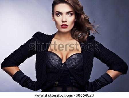 Beautiful elegant woman. Luxury photo. - stock photo