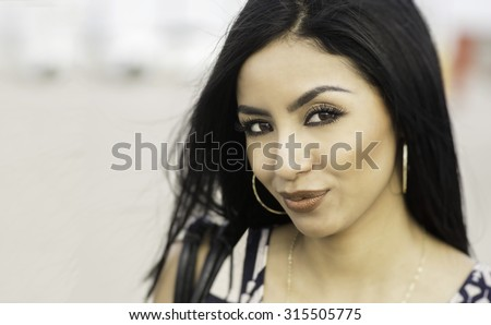 Beautiful elegant your woman.  Real people in real locations with natural expressions , captured moments in time. - stock photo