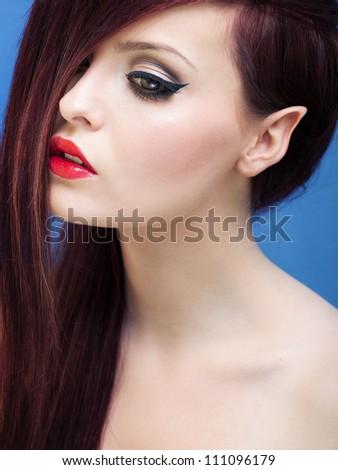 Beautiful elf girl - stock photo