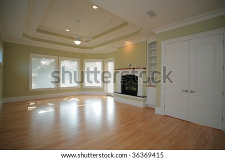 Basement New Construction Home Stock Photo 32038696