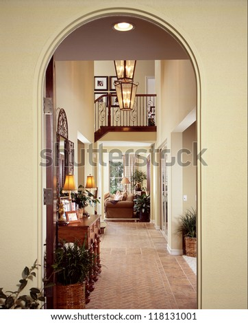 Interior arch stock photos images pictures shutterstock for Designs of arches in living room