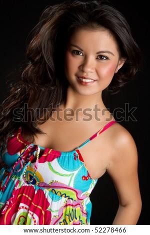 Beautiful Ethnic Woman - stock photo