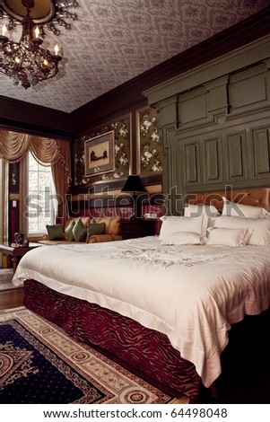 Beautiful Europe Imperial Style Hotel Room - stock photo
