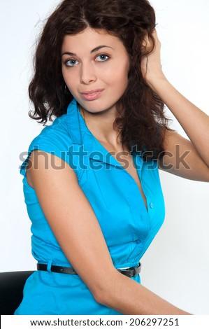 Beautiful European Teen Girl Touching Her Stock Photo ... - photo#1