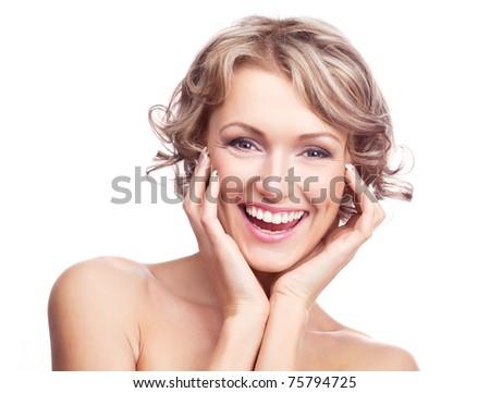 Portrait Of The Beautiful Naked Girl Stock Photo - Image