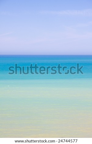 beautiful exotic beach in Mediterranean - stock photo