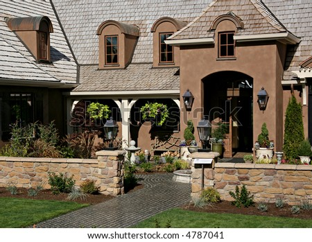 Beautiful Expensive Home - stock photo