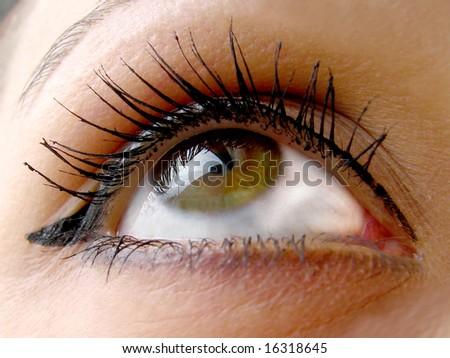 beautiful eye - stock photo