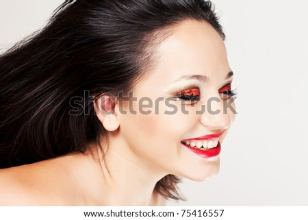 Beautiful Eye Makeup - stock photo