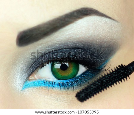 beautiful eyes - stock photo