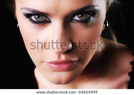 Beautiful face. - stock photo