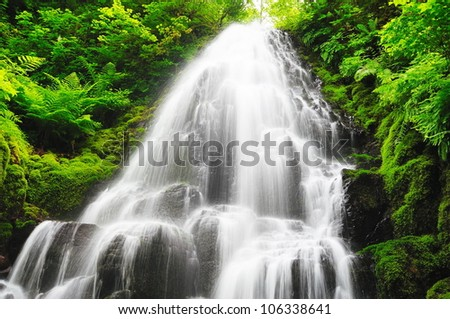Beautiful  fairy falls - stock photo